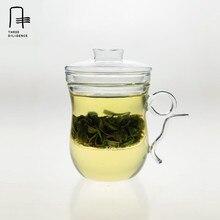 400 ml Resistente Al Calor Vidrio Teaware Floral Té de Hierbas Taza de Aislamiento Térmico Taza del Filtro de té infusor