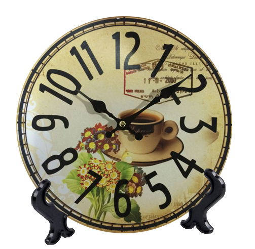 Wooden Wall Or Table Clocks Coffee Dinning Room Wood Desk Clock Quartz Mdf Wooden Clock 10