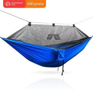 Image 2 - Hängematte Mit Bug Net Tragbare Camping Hängematte Moskito