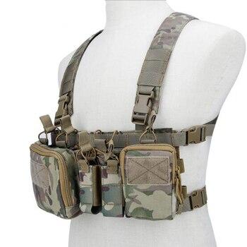 Tactical vest Multifunctional portable vest V56 and V57(CP BK OD Tan Gray)