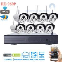 New 8CH 960P HD H 264 Waterproof Vandal Proof Dome IR IP Camera WIFI Security CCTV