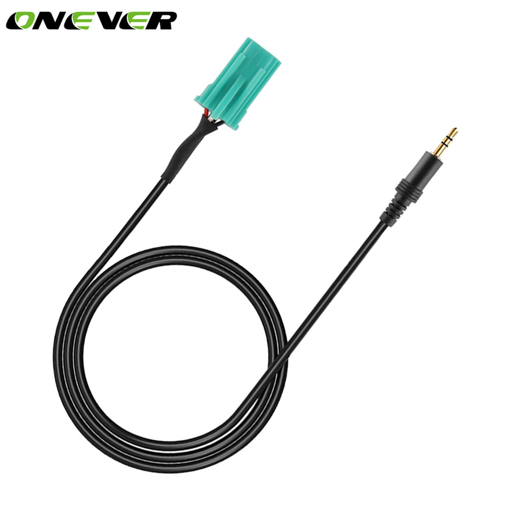 onever 6 pin input jack 3 5mm plug aux auto car audio