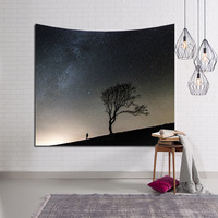 LYN&GY Beautiful Candle Night Sky Wall Tapestry Home Decorations Wall Hanging Forest Starry Tapestries For Living Room Bedroom 3