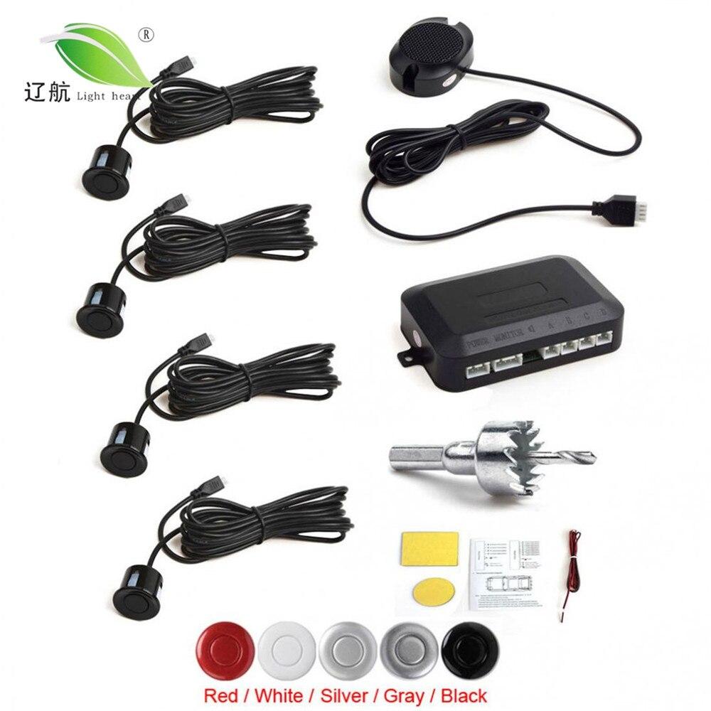 Światło serca 4 czujniki Buzzer czujnik parkowania samochodu System z Alarm dźwiękowy/wodoodporny, powrót samochodów asystent