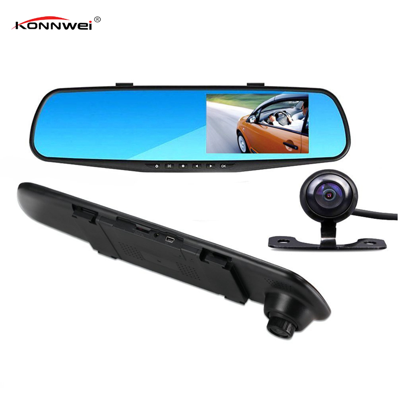 Full Hd 1080p Dual Lens Mirror Car Camera Rearview Auto Dvrs Cars Dvr Night Vision Parking