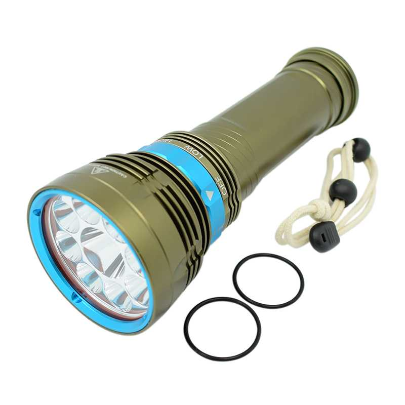 High Power 20000 Lumens LED Flashlight 18650 XM-L2 U2 Lamp Diving Light Underwater 100m Dive Torch L2 Lantern for Spearfishing