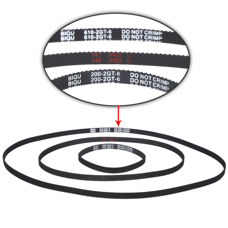 GT2 Closed Loop Timing Belt Rubber 110/122/158/200/400/610/1220mm 2GT BELT width 6mm suitably GT2 pulley for 3d printer parts