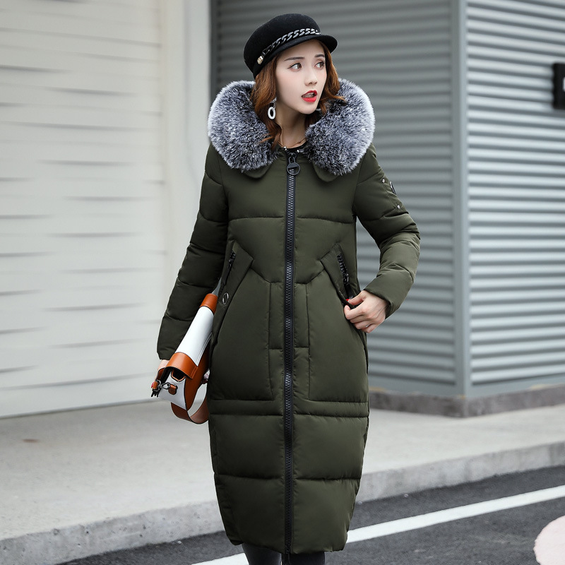 2017 Winter Jackets And Coats Women Thick Warm Parka Coat Female Fashion Windbreaker Outerwear Fur Hooded Collar Long Jacket