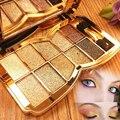 Glitter Sombra Sombra de Olho 10 Cor Diamante Brilhante Colorido Da Sombra de Olho Paleta de Maquiagem Profissional de Cosméticos Do Partido Do Disfarce