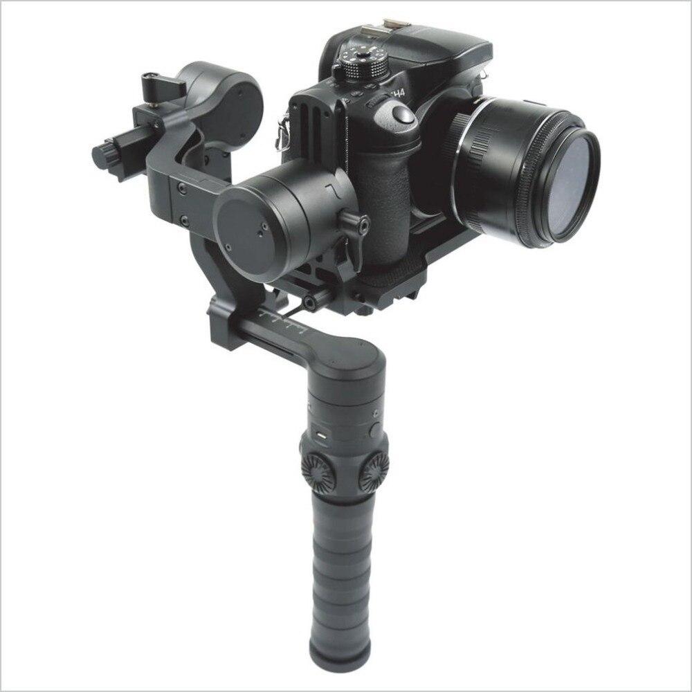ISTEADY Três Eixos Cardan Handheld Câmera Estabilizador Profissional Compacto com Estrutura de Alumínio de Aviação GS3