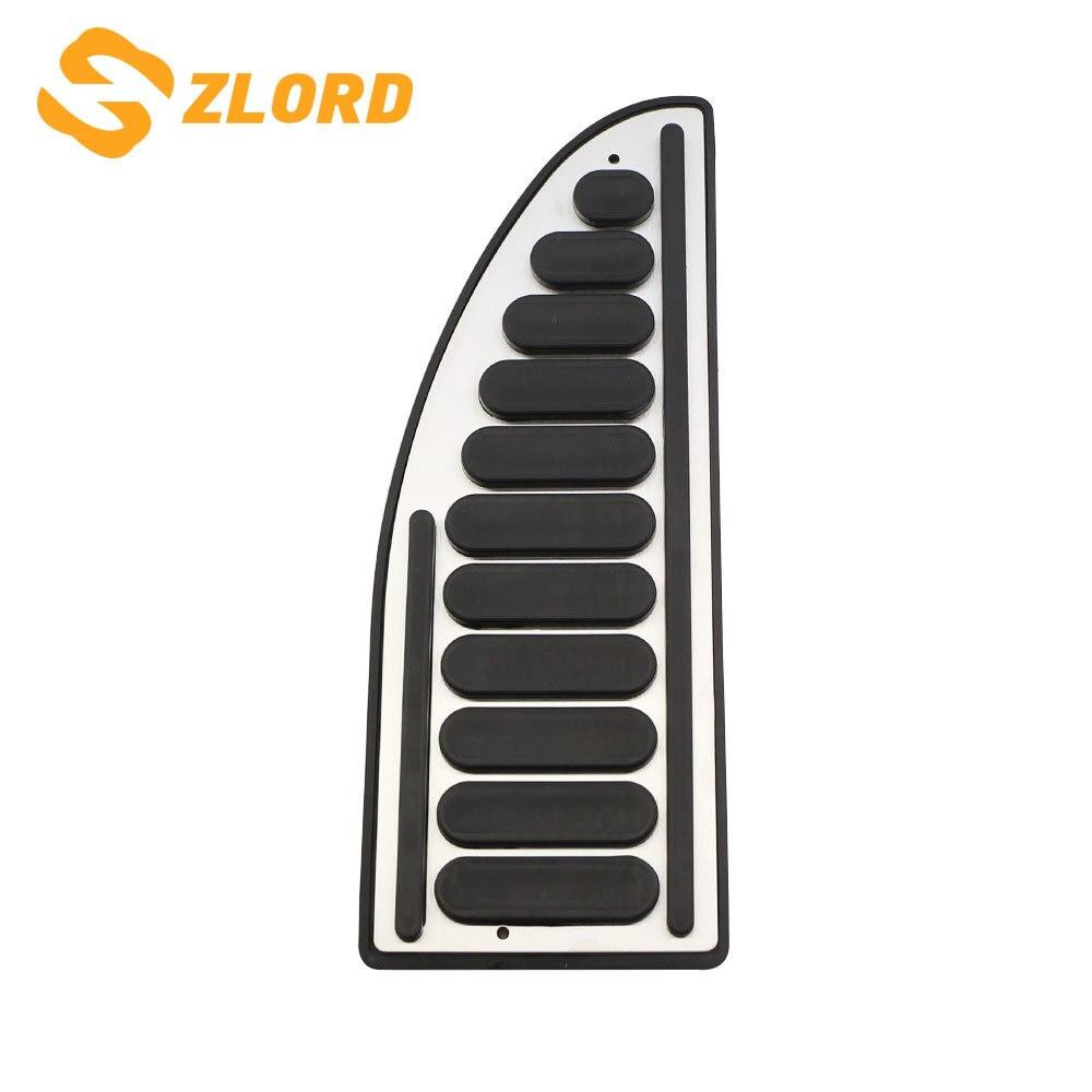 Zlord pedal do carro footboard pedal resto de pé capa para ford focus 2 3 4 mk2 mk3 mk4 fiesta mondeo fusão kuga fuga