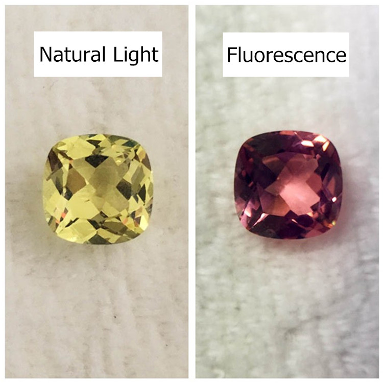 Alexandrite loose stone yellow change red in fluorescent light square cushion brilliant cut faceted created gemstone beads DIY