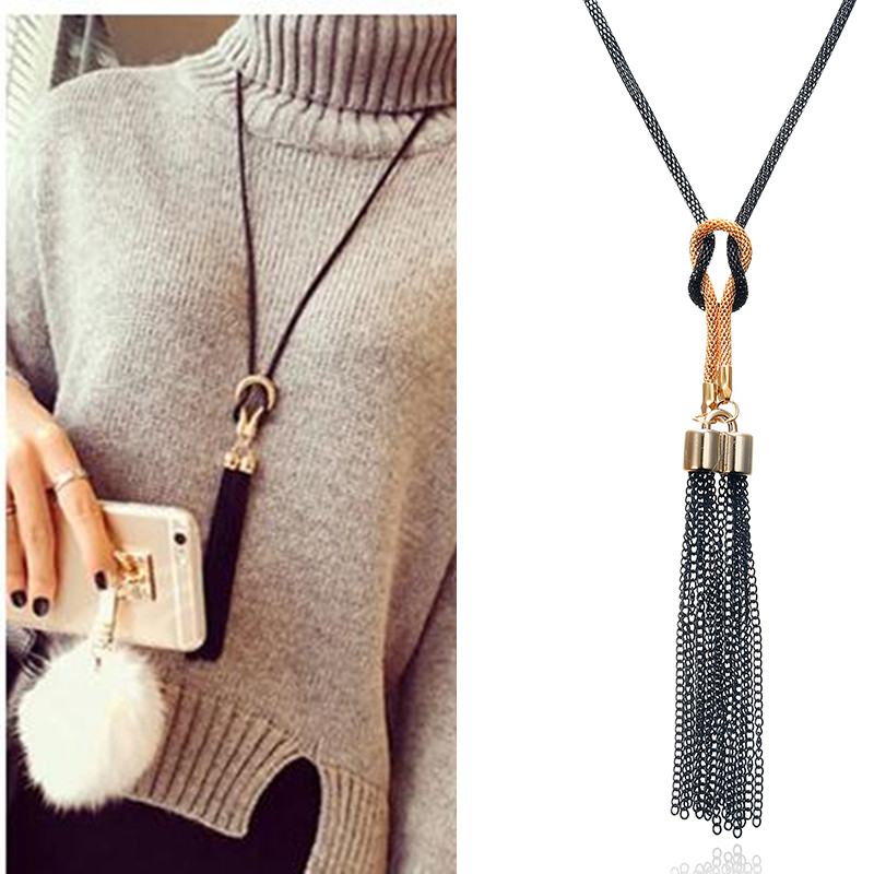 Pendant Necklace Tassel Long Winter Sweater Chain Necklace Necklace Sales