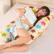 1.3kg wygodne poduszki ciążowe duża w kształcie litery U poduszka dla mamy Wasit wsparcie Cartoon łóżko poduszka na ciało dla kobiet w ciąży