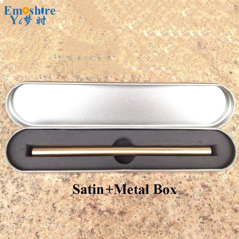 Emoshire Silver Top Brand Brass Pen Unique Design Metal Roller Ball Pen with Metal Box Luxury Retro Copper Ballpoint Pen P339 pv2 rda with top filling design