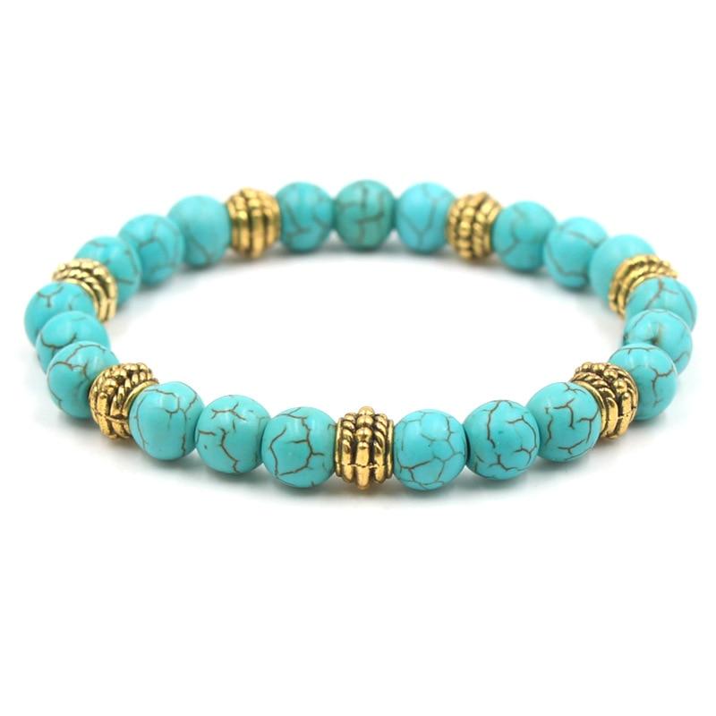 8mm Beads Bracelet Men Women Yoga Healing Balance Pulseras Mujer Moda 2018 Reiki Stones Elastic Chakra Bracelets Trendy Jewelry