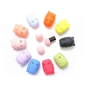Image 5 - Yavru güzellik tozu puf toz geçirmez tutucu sünger makyaj yumurta kurutma çantası taşınabilir yumuşak silikon kozmetik taban sünger kutu tutucu