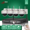 De seguridad CCTV 4CH NVR Wifi Plug & Play 30 IR A Prueba de Vandalismo 720 P Wireless IP de Red domo Cámara de Video Vigilancia Sistema de 1 TB HDD