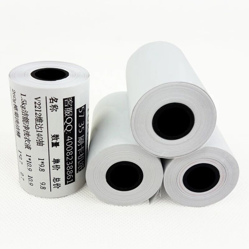Thermal Paper Roll 57x35mm, 65gsm Thermal Paper,  Mobile POS Printer Till Rolls 2 1/4