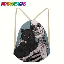 Fashion Drawstring bag Draw Unisex Halloween mochila Skull Backpacks 3D Printing boy Drawstring Backpack bolso unicornio Sumka