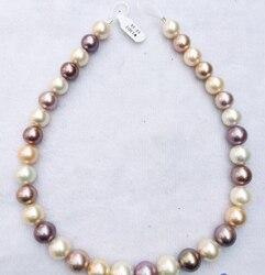 Xiuli 002279 AAA + + 100% natürliche 17 12-14mm runde weiß rosa lavendel Edison perlenkette