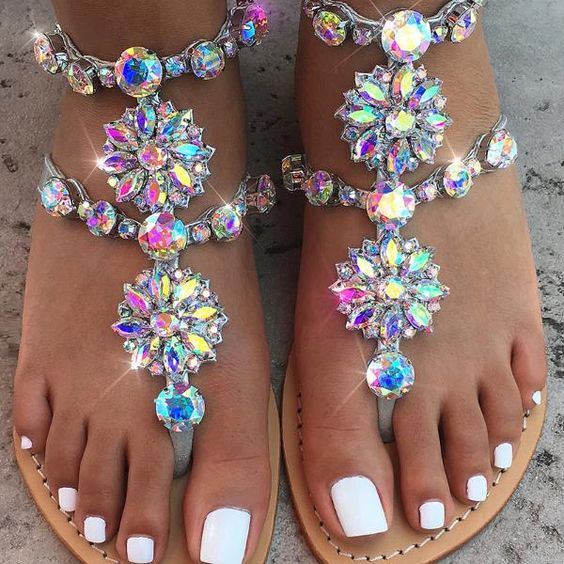 Tenis Feminino Chaussure as String Color 46 Plat Chaînes Femme Sandales Plus Strass Chaussures Showed Femmes As Cristal Gladiateur Color Taille RwOAFqf