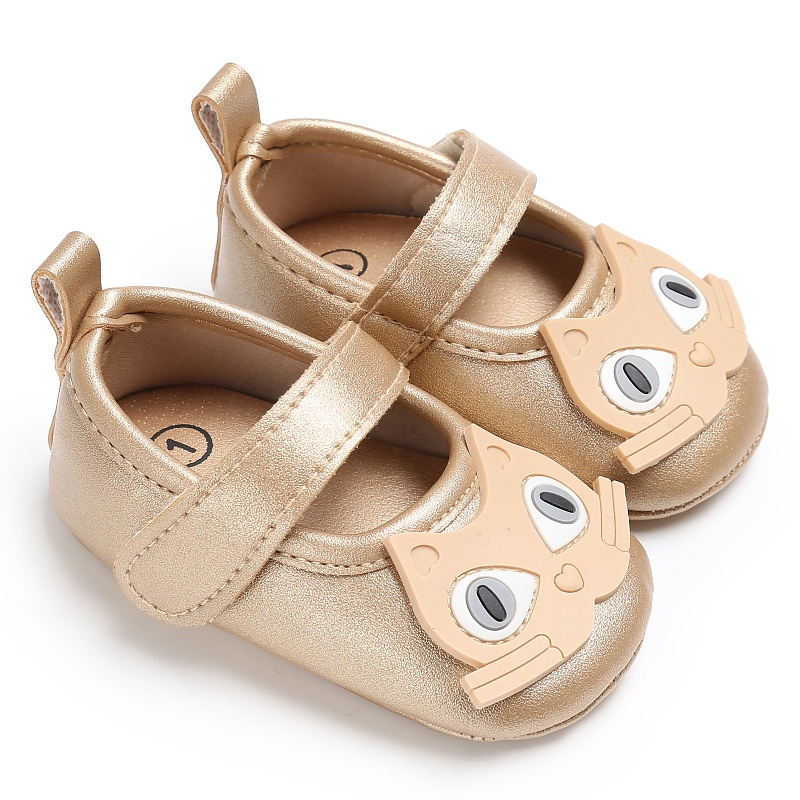 Cat Cartoon Baby Shoes Newborn Infant Toddler First Walkers Soft Soled PU Leather Shallow Prewalker