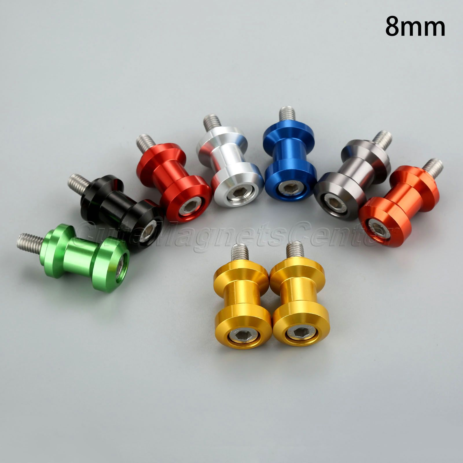 цены mtsooning 2pcs 8mm Rear Motorcycle Swingarm Spool Slider Bobbins CNC Aluminum For Honda Suzuki Ducati Kawasaki Motorcycle Part