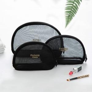 Image 5 - 簡潔なトイレクリスタル黒ピンクグリッド化粧品オーガナイザーミニサイズトランペッターポータブル旅行バッグパッケージ受け入れる