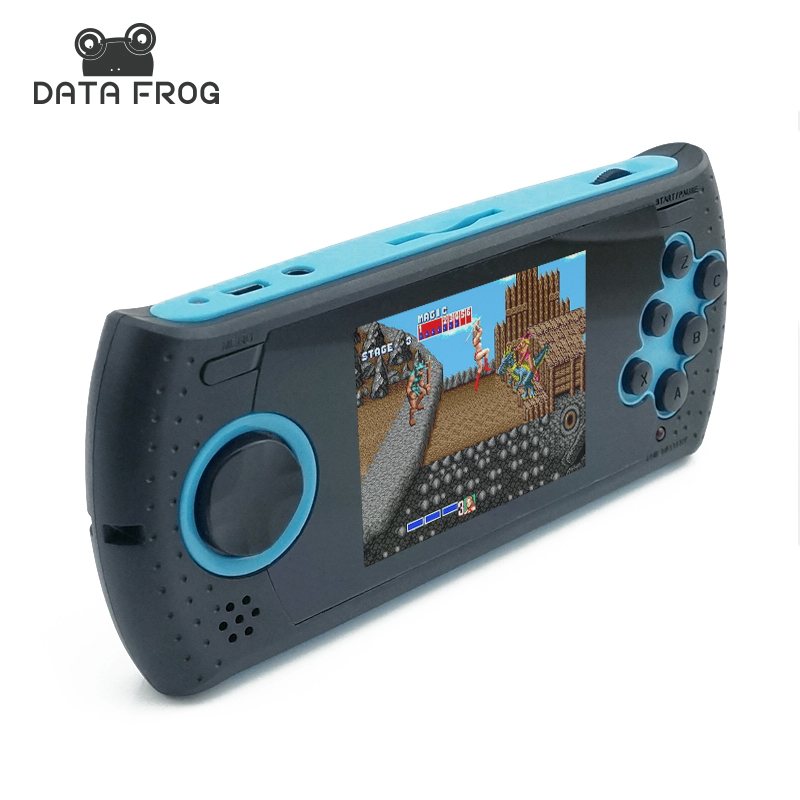 ФОТО Portable 3 Inch 16 Bit Handheld Game Console Players Build In 100 Classic Game PVP PXP MP3 MP4 Game Player Gift For Kids