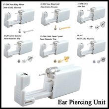 24pcs/box Fashion No Pain Ear Piercing Kit Disposable Safe Sterile Stud Gun Piercer Tool Earring Jewelry