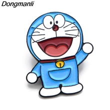 P3784 Dongmanli Cartoon Anime Funny Cat Metal Enamel Brooches and Pins Lapel Pin Backpack Badge Collar Jewelry