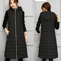 Warm Winter Women Vest Women's Long Waistcoat Slim Sleeveless Jacket Coats Female Down Cotton Hooded Vests New Fashion Clothing