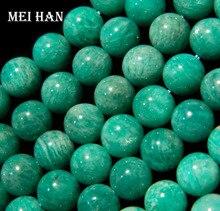Amazonita natural al por mayor A + Mozambique 9-9.5mm smooth ronda encanto de la gema de piedra para hacer la joyería