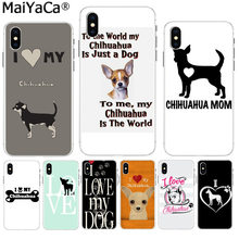 MaiYaCa EU Amo Meu Cão Chihuahua Pug Na Venda! Luxo Caso de telefone Legal para Apple iPhone 5 8 7 6 6 s Plus X XS max 5S SE XR cobrir(China)