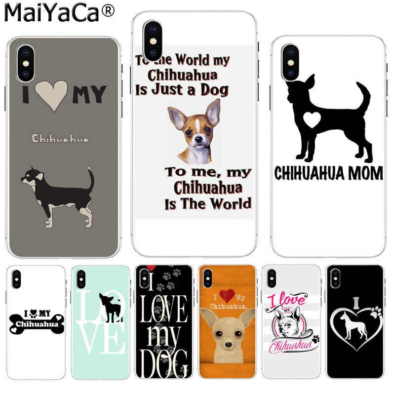 Maiyaca I Love My Chihuahua Chó Pug Bán! Cao Cấp Thoáng Mát Ốp Lưng Điện Thoại Apple iPhone 8 7 6 6S 6S Plus X XS Max 5 5S SE XR Bao