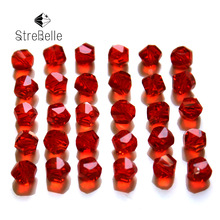 AAA6-1 Free Shipping Wholesale Grade Crystal twisted cube Beads Multi Color 24faces shinning beads