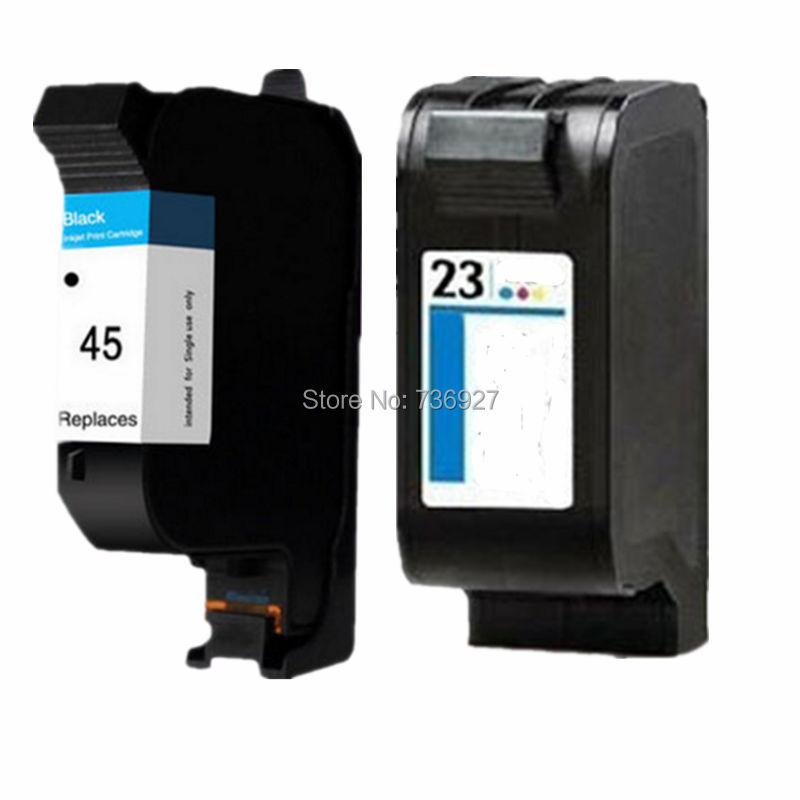 1Set Remanufactured Ink Cartridge For HP45 HP23 HP 45 23 For DeskJet 710C 712C 720C 722C 810C 812C 830C 832C 880C 882C printer