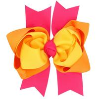 Free Shipping 100pcs/lot Large Triple Layers Twisted Boutiuqe Hairbow for Teenage Girls School Students