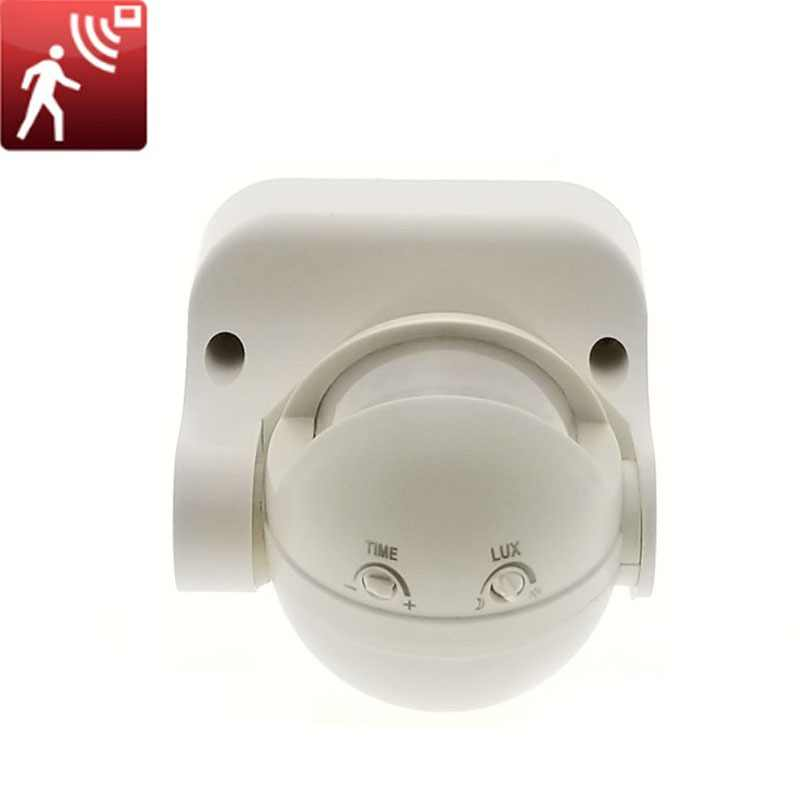 High quality 110V 220V 180 Degree Outdoor IP44 Security PIR Infrared Motion Sensor Switch Movement Detector Max 8m
