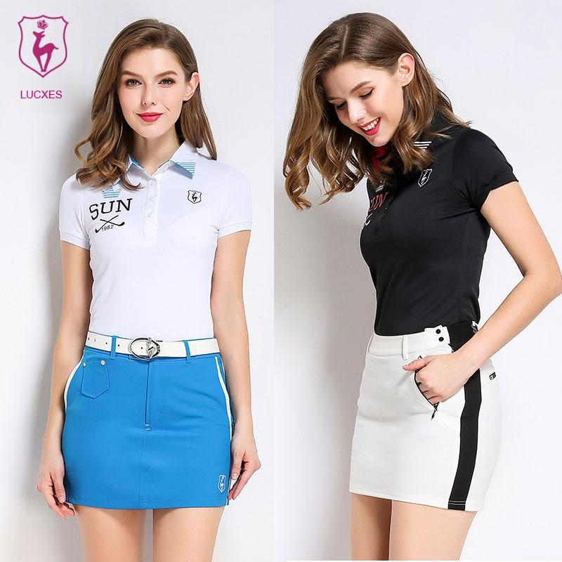 31f61ecb Αγορά Γκολφ | LUCXES summer golf shirt women polo t clothing slim fit high-elastic  ventilated 2018 anti sweat 120171 free shipping