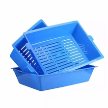 3Pcs Cat Potty Semi-Closed Splash Toilet Litter Box Plastic Set Pet Supplies 3 Interlocking Tray Easy To Use