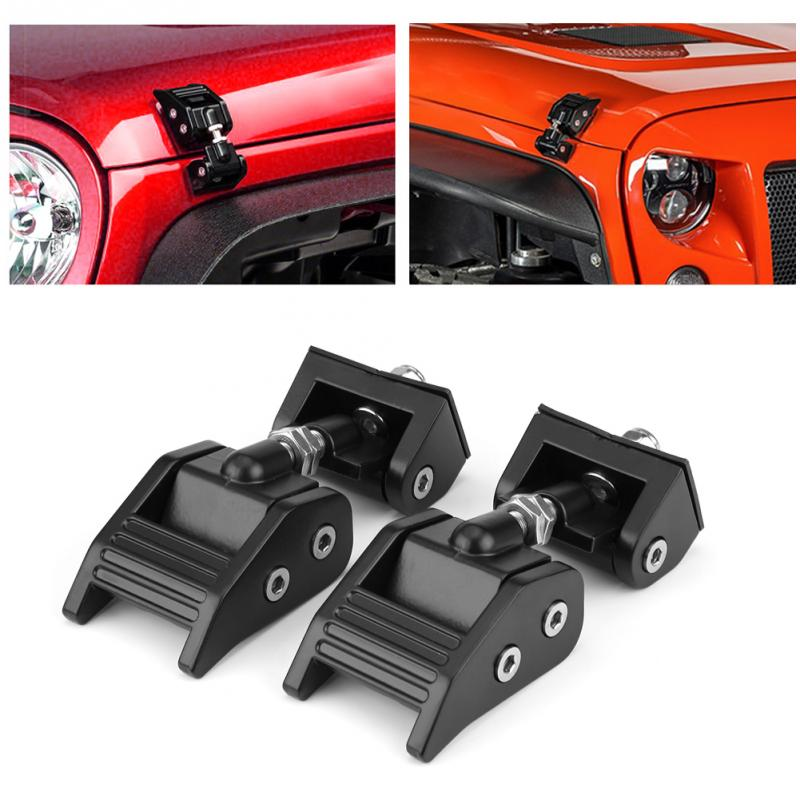 2x Hood Lock Latch Bracket Buckle Hold Down Wrenches For Jeep Wrangler 2007-2017