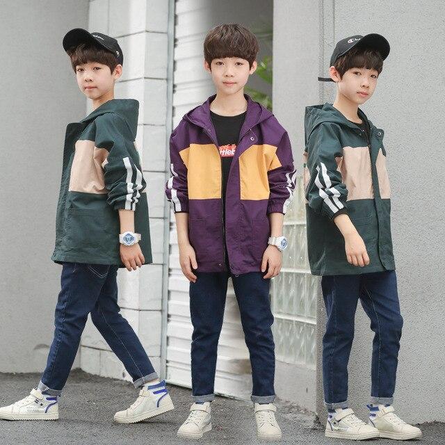 2019 Куртки для маленьких мальчиков детская верхняя одежда с принтом для мальчиков верхняя одежда От 4 до 13 лет Детская ветровка для девочек весенне-осенняя Одежда для мальчиков