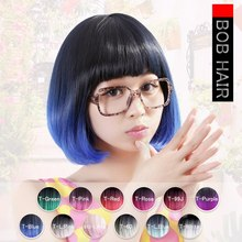 Neitsi 14'' Synthetic Wigs With Bangs Straight Bobo Hairstyle Heat Resistant Cosplay Wigs For Women 160g/pc цена