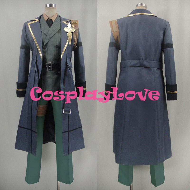 New Custom Made Japanese Anime Code:Realize Sousei no Himegimi Abraham Van Helsing Cosplay Costume CosplayLove High Quality