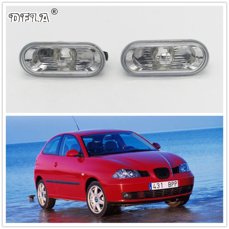 2pcs For SEAT Ibiza 2002 2003 2004 2005 Car-Styling Side Marker Turn Signal Light Lamp Repeater 2pcs for vw sharan 2001 2002 2003 2004 2005 car styling side marker turn signal light lamp repeater