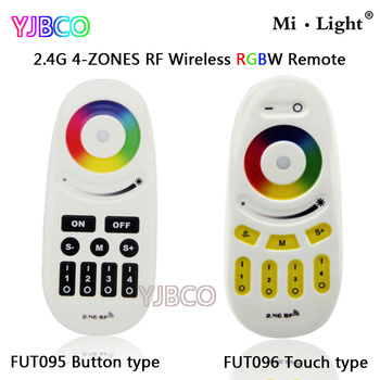 FUT095/FUT096 2.4G  Button/Touch type Screen RGBW RF 4-Zone Wireless  LED Remote Controller for LED RGBW Bulb or strip цена 2017