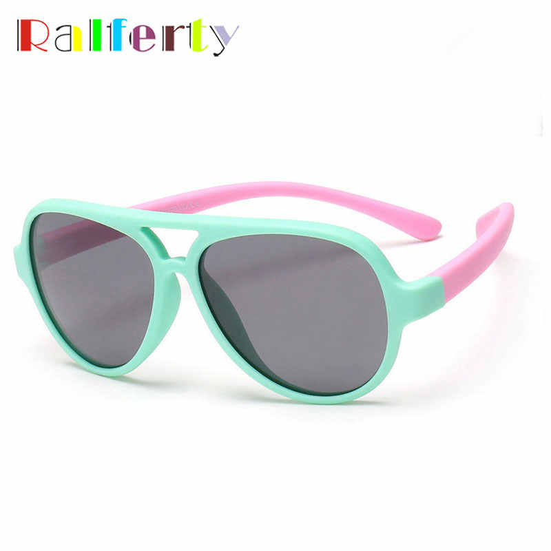 Ralferty Child TAC Soft Polarized Sunglasses Girls Boys Oval Sun Glasses Kids Anti UV Goggles Baby Infant spectacles Oculos 893