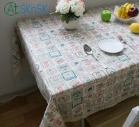 2016 New Arrival Korean Small Cotton Tablecloths And Fresh Linen Tablecloths Fabric Quality Cover Towel Freee